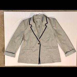 NWT Company Ellen Tracy Long Sleeve Blazer Gray XL